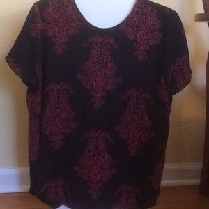 Navy with red design top.  Great condition